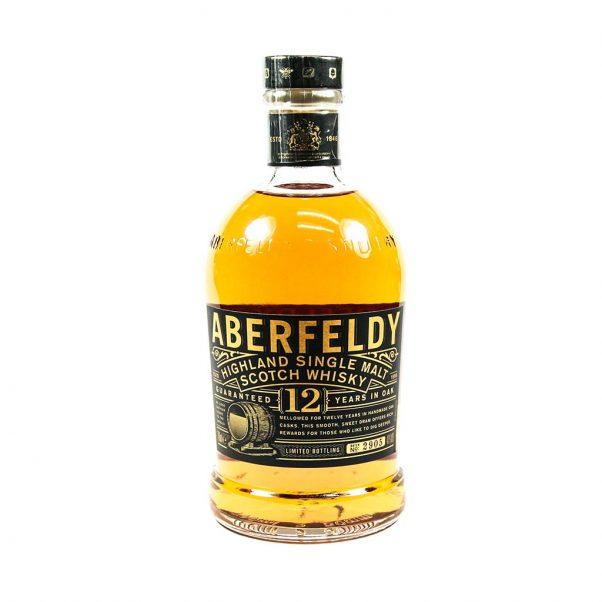 highland malt whisky - whiskey - scottish whisky - single malt 12 year old - dewar's distillery