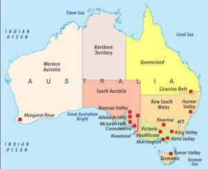 guide to Australian wine, good new world wine,