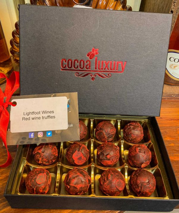 cocoa luxury | lightfoot wines | red wine truffles
