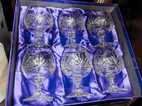 royal doulton | brandy glasses | crystal glassware