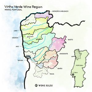 vinho verde region map | vinho verde | portuguese wine | lightfoot wines | wine folly map